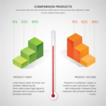 Infographic Templates Collection - Vector, Photoshop, PowerPoint, Google Slides - 3D Comparison Infographic Template