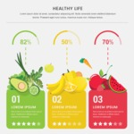 Infographic Templates Collection - Vector, Photoshop, PowerPoint, Google Slides - Fruits and Vegetables Comparison Infographic Template