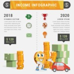 Infographic Templates Collection - Vector, Photoshop, PowerPoint, Google Slides - Money Income Infographic Template