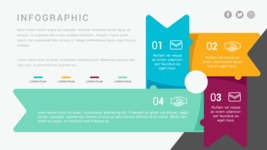 Infographic Templates Collection - Vector, Photoshop, PowerPoint, Google Slides - 4 Step Process Infographic Template