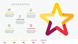 Infographic Templates Collection - Vector, Photoshop, PowerPoint, Google Slides - Infographic Template with Star