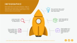 Infographic Templates Collection - Vector, Photoshop, PowerPoint, Google Slides - Startup Infographic Template with Rocket