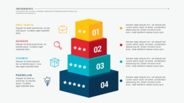 Infographic Templates Collection - Vector, Photoshop, PowerPoint, Google Slides - 4 Cubes Infographic Template