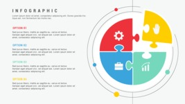 Infographic Templates Collection - Vector, Photoshop, PowerPoint, Google Slides - Minimalist Puzzle Infographic Template