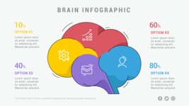 Infographic Templates Collection - Vector, Photoshop, PowerPoint, Google Slides - Brain Infographic Template