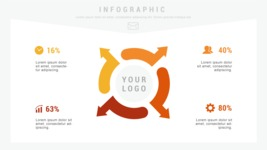Infographic Templates Collection - Vector, Photoshop, PowerPoint, Google Slides - 4 Data Options Infographic Template