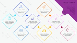 Infographic Templates Collection - Vector, Photoshop, PowerPoint, Google Slides - Connection Network Infographic Template