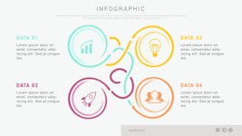Infographic Templates Collection - Vector, Photoshop, PowerPoint, Google Slides - Connected Data Infographic Template