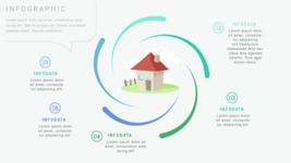 Infographic Templates Collection - Vector, Photoshop, PowerPoint, Google Slides - Real Estate Infographic Template