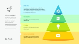 Infographic Templates Collection - Vector, Photoshop, PowerPoint, Google Slides - 4 Steps Pyramid Infographic Template