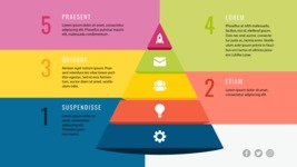 Infographic Templates Collection - Vector, Photoshop, PowerPoint, Google Slides - Colorful Pyramid Infographic Template