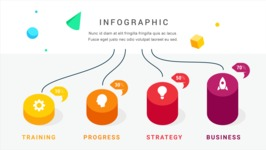 Infographic Templates Collection - Vector, Photoshop, PowerPoint, Google Slides - Colorful 3D Infographic Template