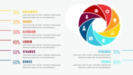 Infographic Templates Collection - Vector, Photoshop, PowerPoint, Google Slides - 8 Options Circle Infographic Template