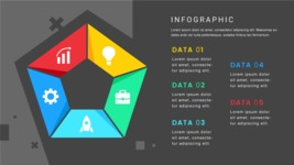 Infographic Templates Collection - Vector, Photoshop, PowerPoint, Google Slides - 5 Options Pentagon Infographic Template