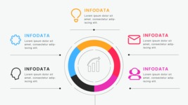 Infographic Templates Collection - Vector, Photoshop, PowerPoint, Google Slides - 5 Data Circle Business Infographic Template