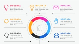 Infographic Templates Collection - Vector, Photoshop, PowerPoint, Google Slides - 6 Data Circle Business Infographic Template