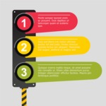 Infographic Templates Collection - Vector, Photoshop, PowerPoint, Google Slides - Traffic Light Infographic Template