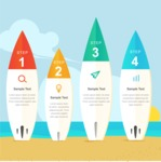 Infographic Templates Collection - Vector, Photoshop, PowerPoint, Google Slides - Summer Infographic Template