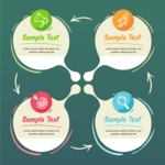 Infographic Templates Collection - Vector, Photoshop, PowerPoint, Google Slides - Infographic Elements in a Circle