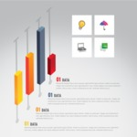 Infographic Templates Collection - Vector, Photoshop, PowerPoint, Google Slides - Creative Infographic Template with Isometric Sliders