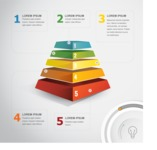Infographic Templates Collection - Vector, Photoshop, PowerPoint, Google Slides - 3D Pyramid Infographic Template Concept