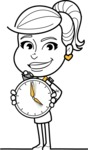 Pretty Linear Girl Cartoon Vector Character AKA Carry - Time is Yours
