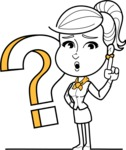 Pretty Linear Girl Cartoon Vector Character AKA Carry - Question