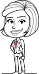 Cute Black and White Woman Cartoon Vector Character AKA Debora - Normal