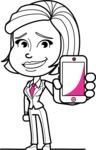 Cute Black and White Woman Cartoon Vector Character AKA Debora - iPhone