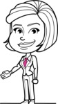 Cute Black and White Woman Cartoon Vector Character AKA Debora - Show