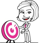 Cute Black and White Woman Cartoon Vector Character AKA Debora - Target
