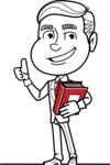 Black and White Businessman Cartoon Vector Character AKA James - Book 3