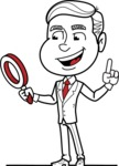 Black and White Businessman Cartoon Vector Character AKA James - Search