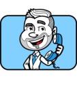 Flat Linear Man Cartoon Vector Character AKA Bob Beardman - Shape 2
