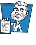 Flat Linear Man Cartoon Vector Character AKA Bob Beardman - Shape 3