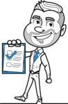 Flat Linear Man Cartoon Vector Character AKA Bob Beardman - Notepad 3
