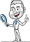 Flat Linear Man Cartoon Vector Character AKA Bob Beardman - Search