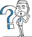 Flat Linear Man Cartoon Vector Character AKA Bob Beardman - Question