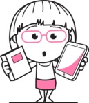 Vicky the Outline Geeky - Book and iPad