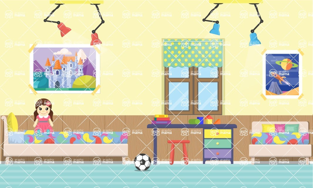 Kid's Room Vector Graphics Maker Design Bundle / Kids