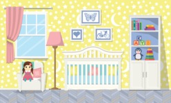 Kid's Room Vector Graphics Maker - Kids Room 1