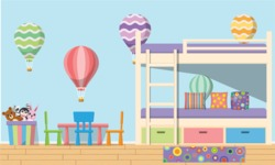 Kid's Room Vector Graphics Maker - Kids Room 11