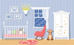 Kid's Room Vector Graphics Maker - Kids Room 12