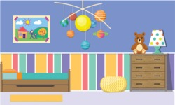 Kid's Room Vector Graphics Maker - Kids Room 15
