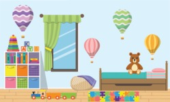 Kid's Room Vector Graphics Maker - Kids Room 18