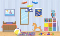 Kid's Room Vector Graphics Maker - Kids Room 9