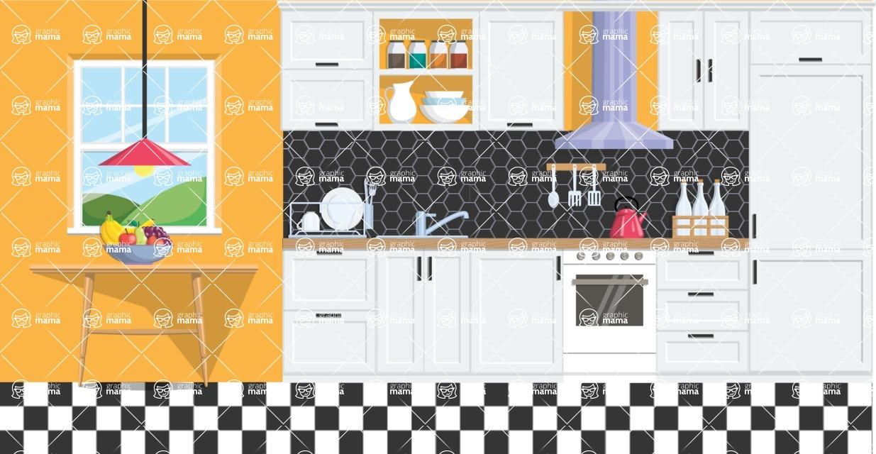 Kitchen Vector Graphic Maker - Kitchen 11