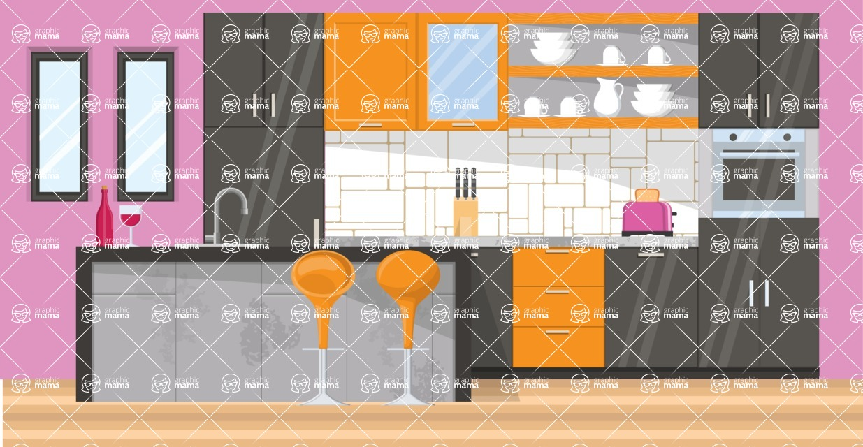 Kitchen Vector Graphic Maker - Kitchen 18