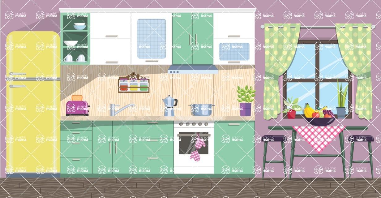 Kitchen Vector Graphic Maker - Kitchen 19