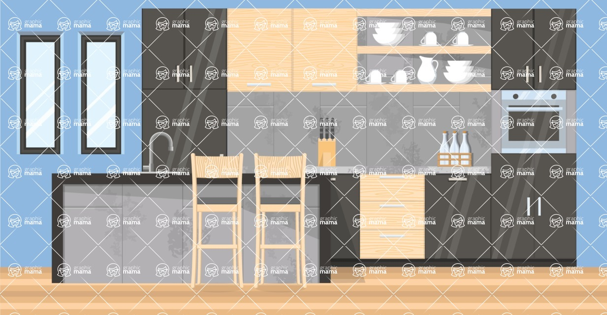 Kitchen Vector Graphic Maker - Kitchen 2